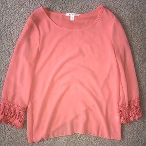 Orange chiffon blouse